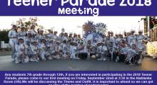 Teener Parade 2018 Meeting
