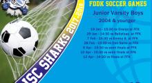 ISC FDDK Soccer games schedule